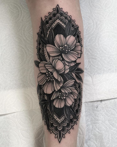 Pin By Brandi Arrowsmith On Tattoo Coverup Ideas In 2020 Flower Cover Up Tattoos Cover Up Tattoos Geometric Inspiration