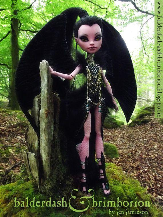 Monster High doll OOAK customization / custom / repaint / art doll .  For more info visit my blog:  www.balderdash-and-brimborion.blogspot.ie