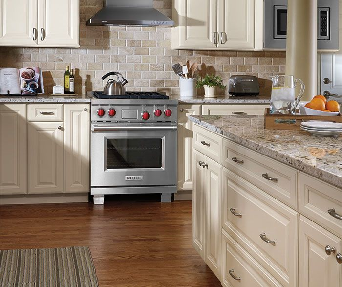 Kitchen Backsplash Maple Cabinets: Ivory Cabinets In Traditional Kitchen By Aristokraft
