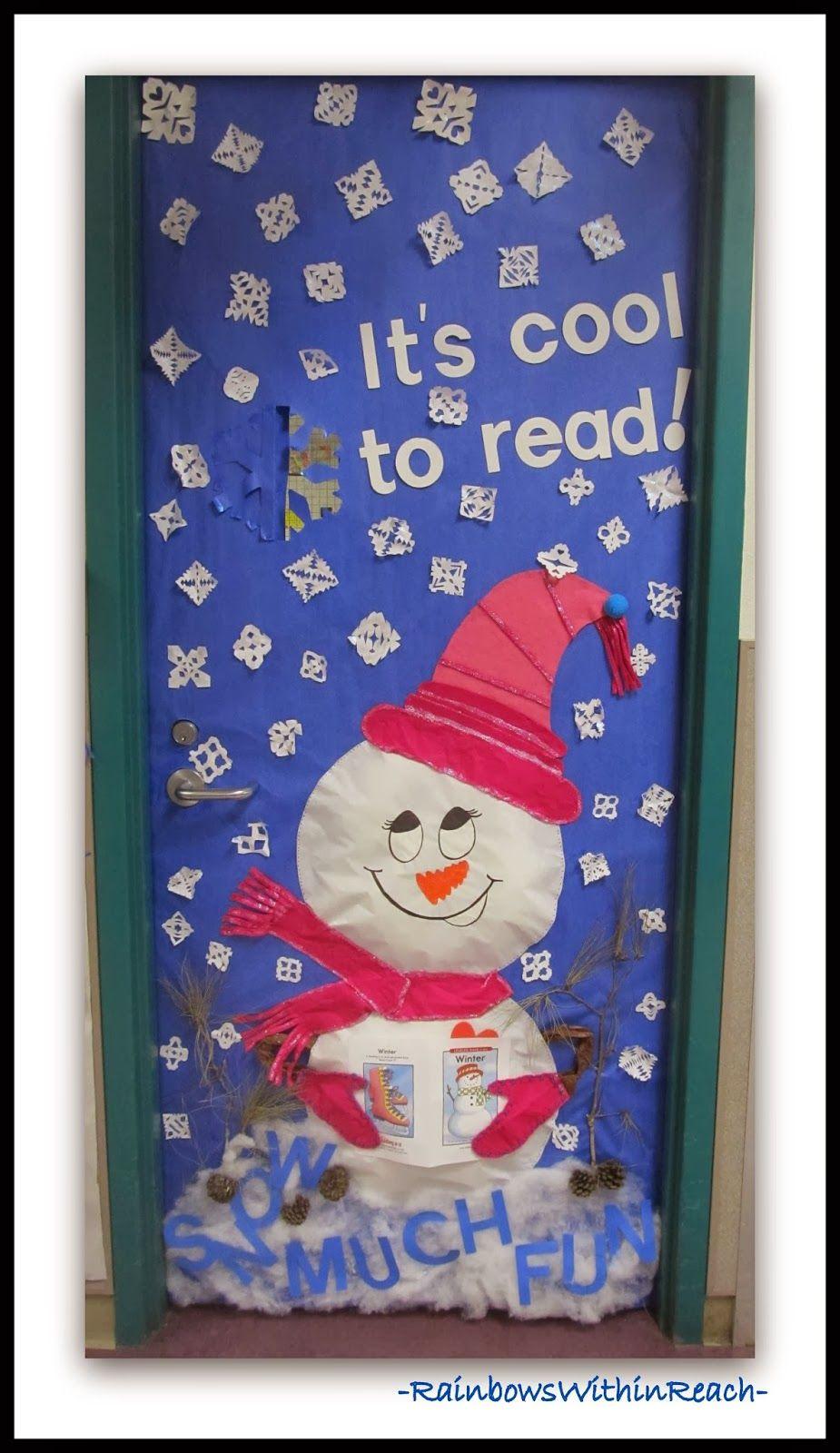 Winter Themed Decorated Classroom Door Via Rainbowswithinreach