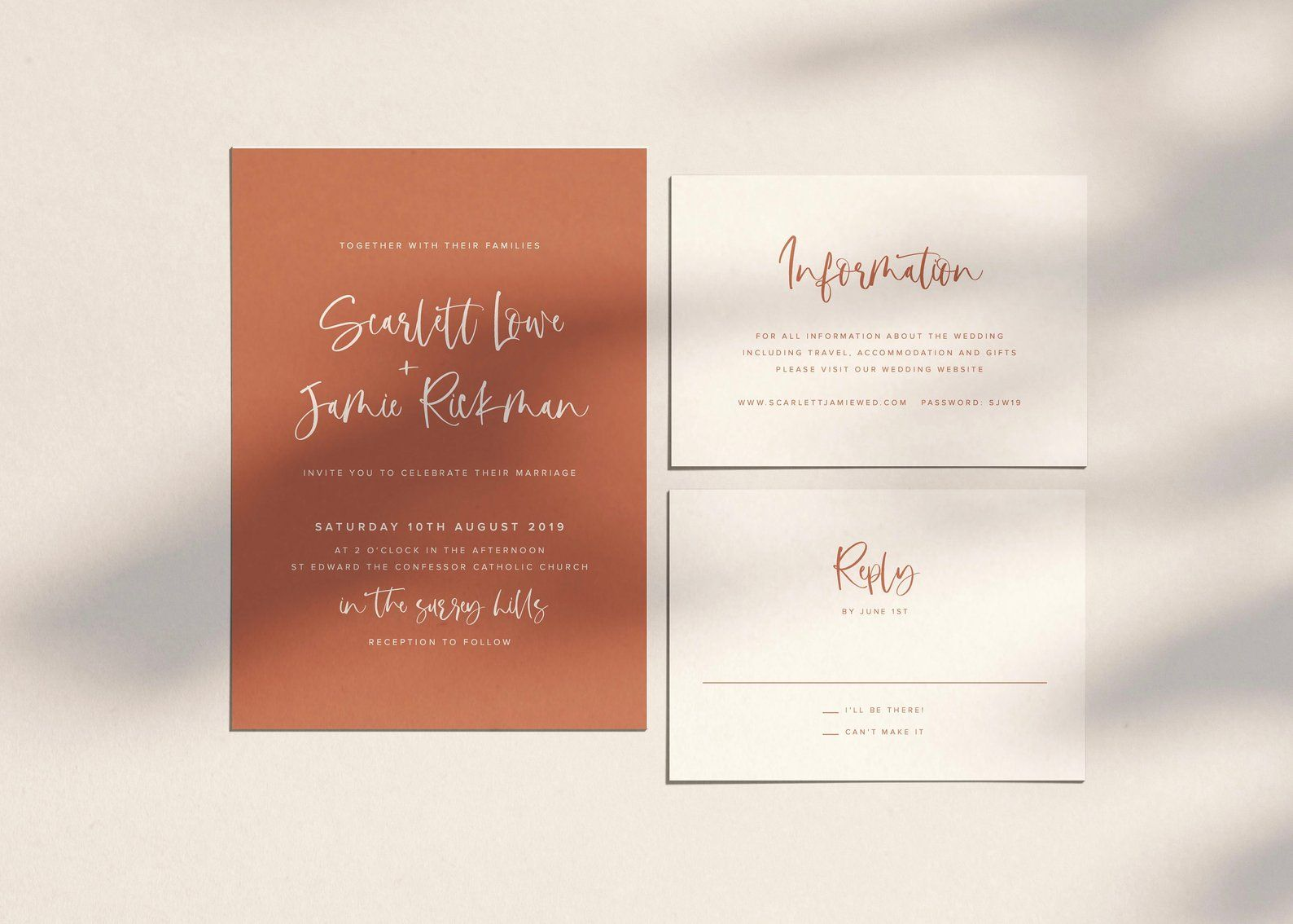 Terracotta Wedding Invitation Orange Wedding Invitation Etsy Orange Wedding Invitations Modern Wedding Invitations Templates Etsy Wedding Invitations