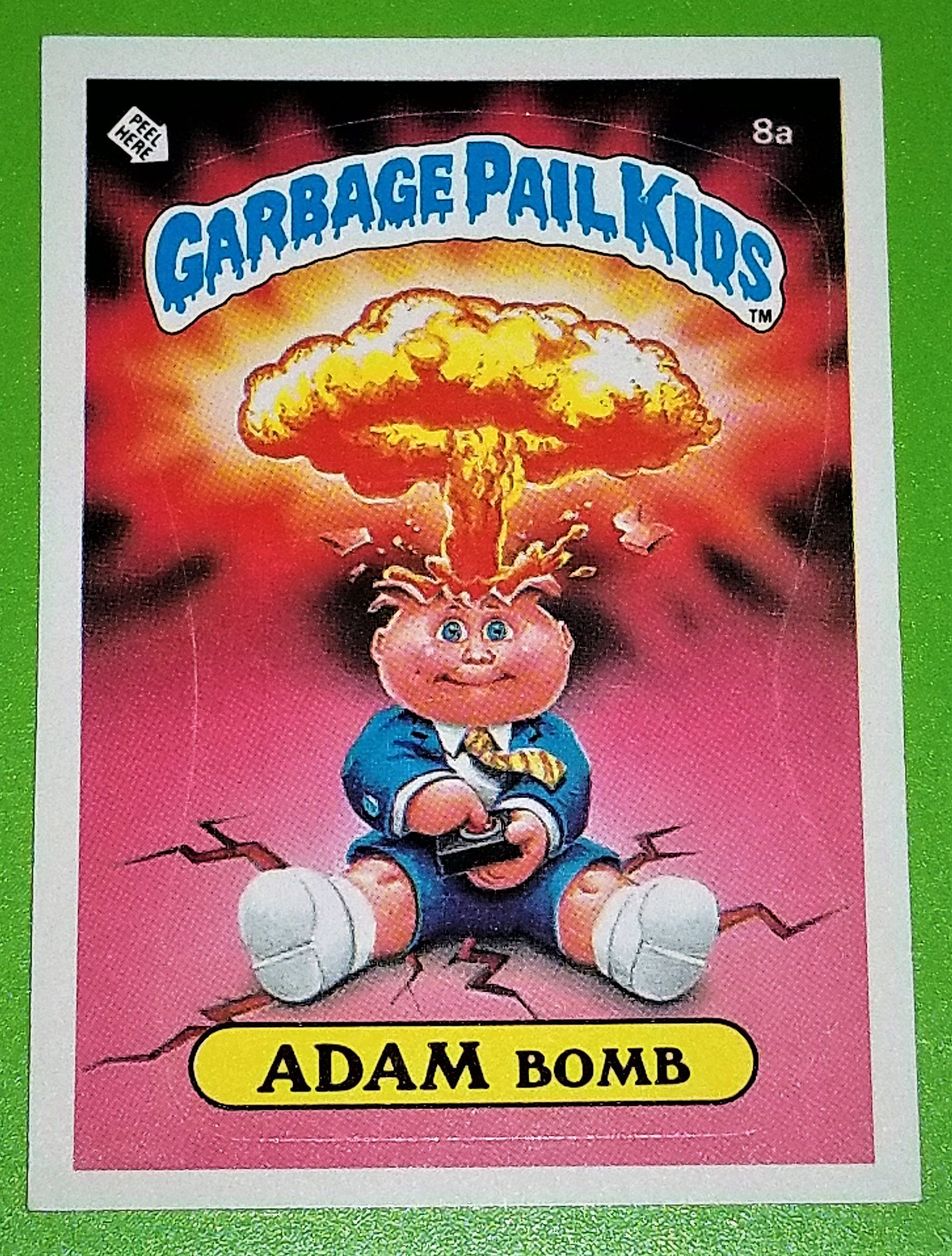 f2c655e3b2e GARBAGE PAIL KIDS STICKER (WE HAVE THE BIG 3 ! ) 1985 ADAM BOMB 8a - MINT  CONDITION
