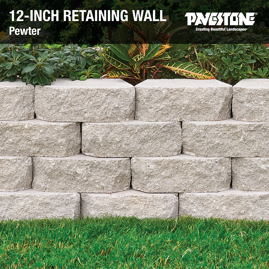 The Perfect Complement To Any Residential Landscape Design Pavestoneco 12inchwall Gardenwall Land Landscaping Retaining Walls Retaining Wall Sloped Garden