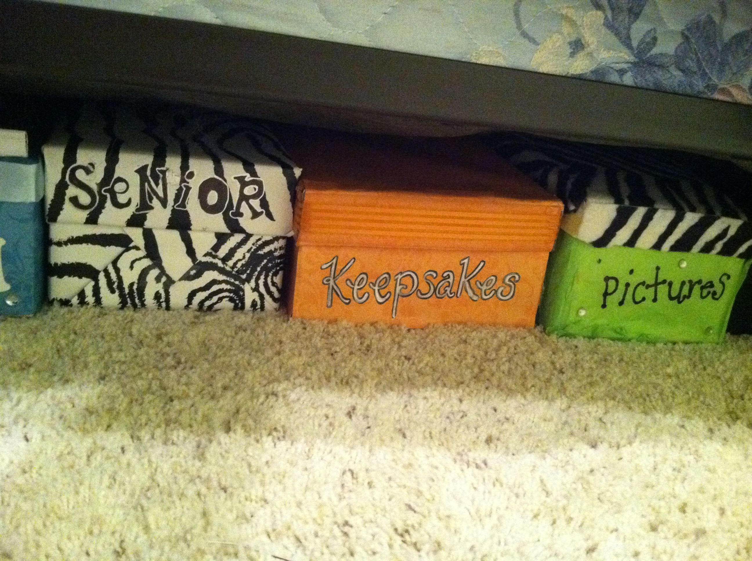 My Under The Bed Storage  Decorated Shoe Boxes.. Want To Make This To