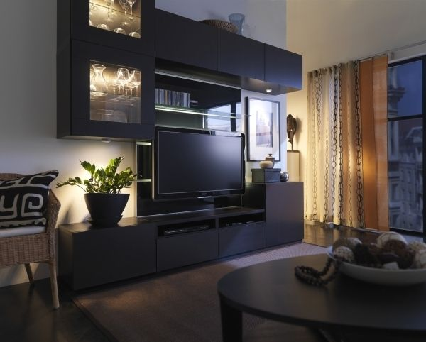 Big Game Small Space Ikea Living Room Ikea Tv Wall Unit Home