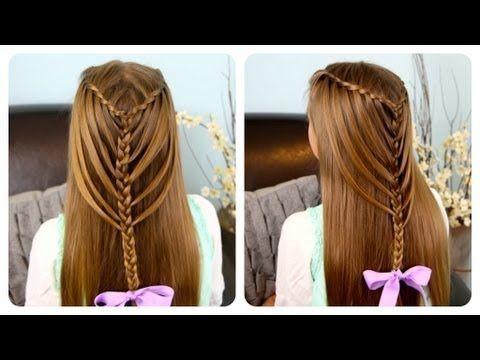 Cute Girls Hairstyles Youtube Waterfall Twists Into Mermaid Braid  Cute Girls Hairstyles