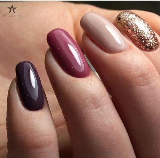 51 Dark Nail Color Designs For Winter | Winter nail colors, Nail ...