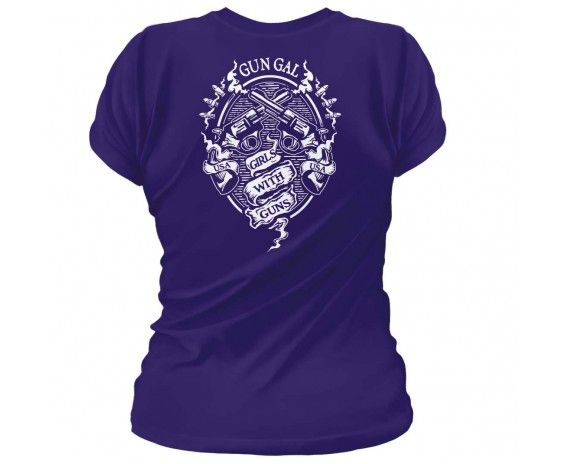 Second Amendment / Pro Gun T-Shirts Gun Gal. Girls with Guns. Women's T-Shirt.