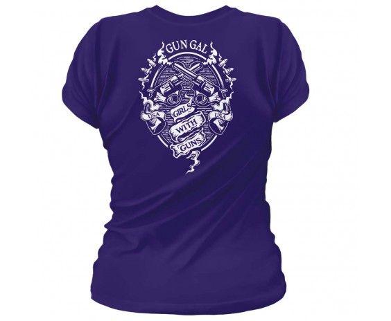 Second Amendment / Pro Gun T-Shirts Gun Gal. Girls with Guns. Women's T-Shirt.