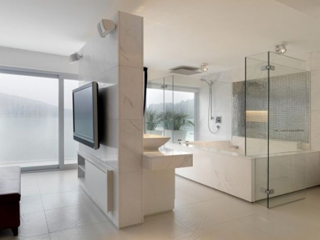 Modern House Bathroom Design With Beautirul Environment View By Original Vision Jpg 650 487 Open Concept Bathroom Beach House Bathroom House Bathroom Designs House with open concept bathroom