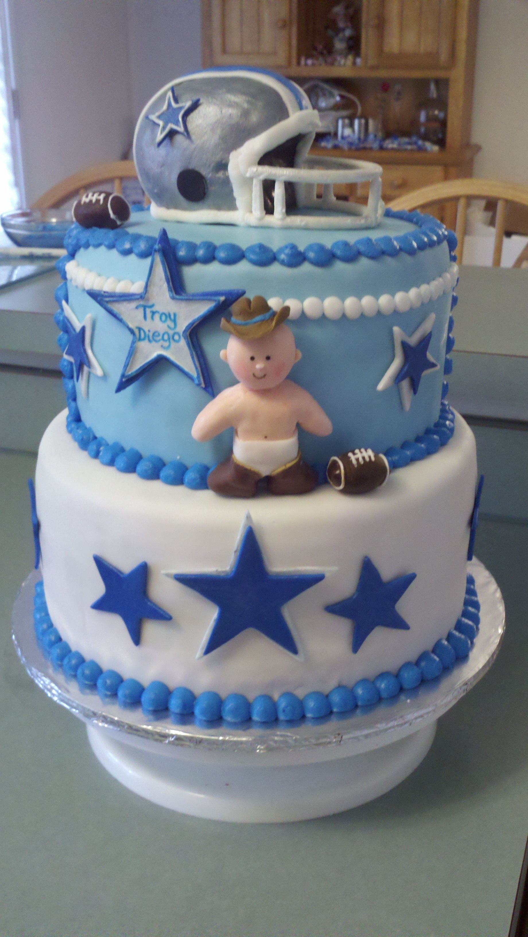 Dallas cowboys birthday cake ideas and designs - Dallas Cowboys Baby Shower Ideas