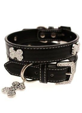 Www Doggiecoutureshop Com Leather Collar Fashion Black Leather