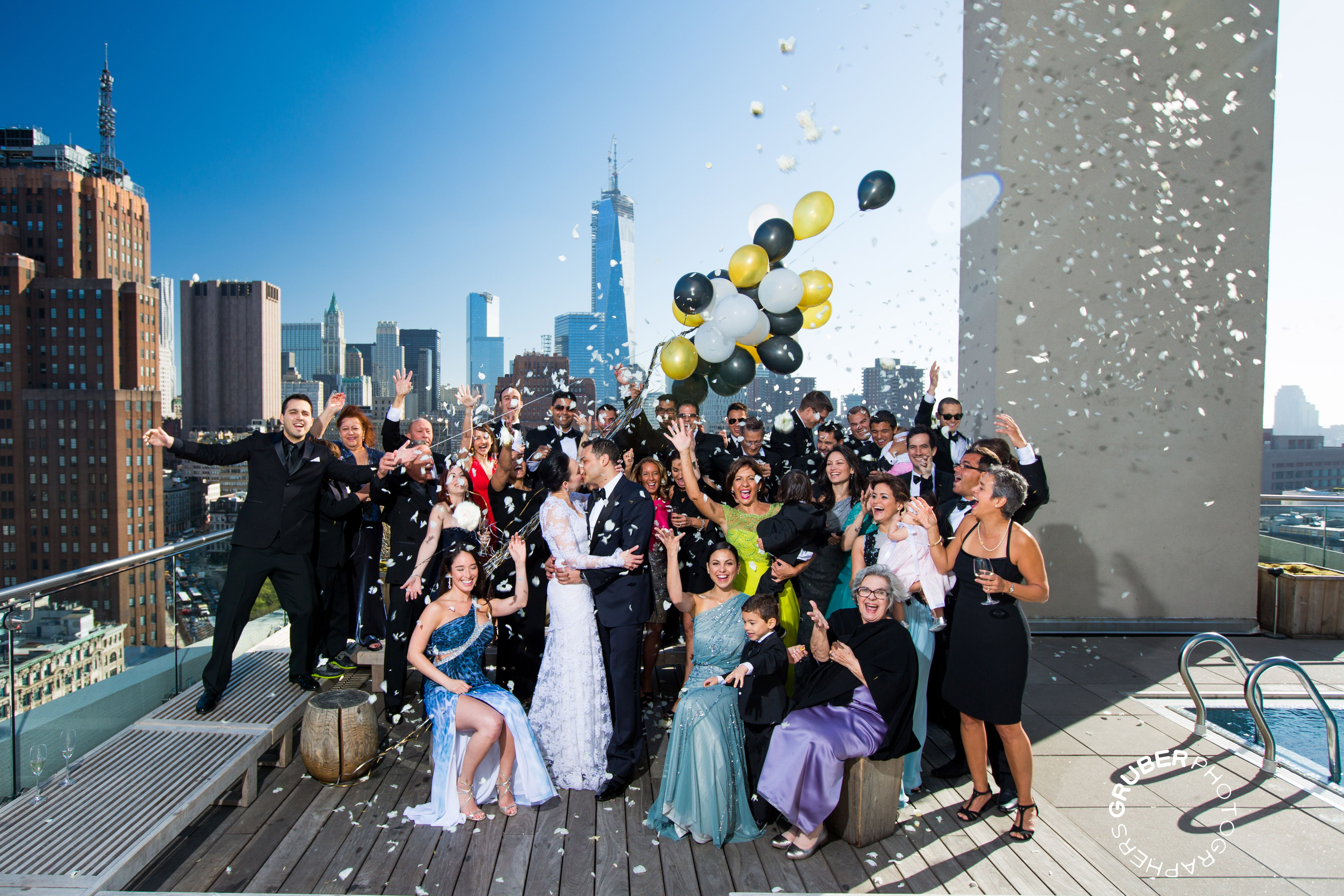 On The Roof Of James Hotel A Stunning Nyc Wedding Moment Captured Have Great Wednesday Everyone