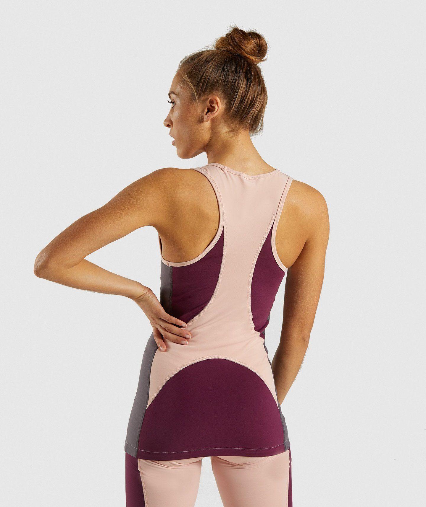 57addc13c0b0a Gymshark Illusion Vest - Dark Ruby Blush Nude Slate Lavender 1 ...