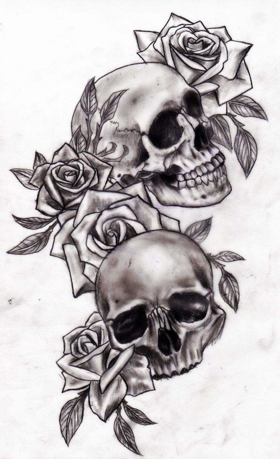 Tattoos for men praying hands skull and roses  tattoo  pinterest  deviantart and rose
