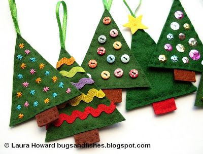 Bugs and Fishes by Lupin How To Felt Christmas Tree Ornaments