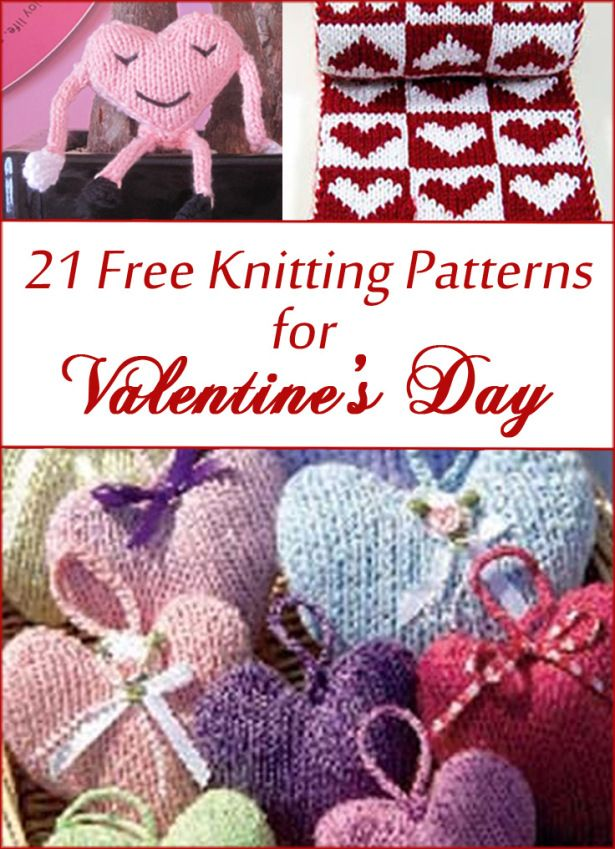 Free Knitting Patterns For Valentines Day And Heart Themes More