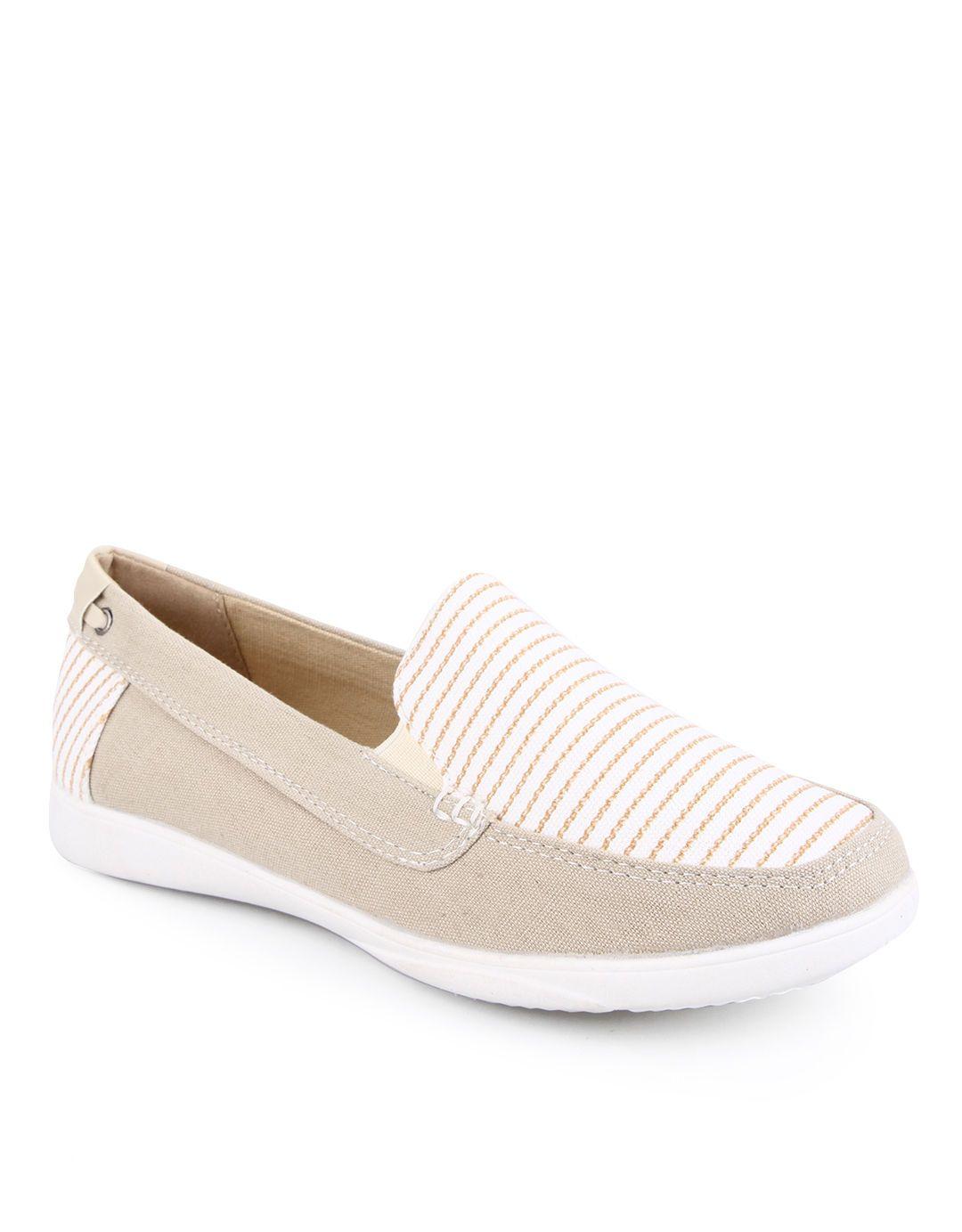Nevada Easy Stripes Slip On Shoes Beige Sepatu Sepatu Adidas
