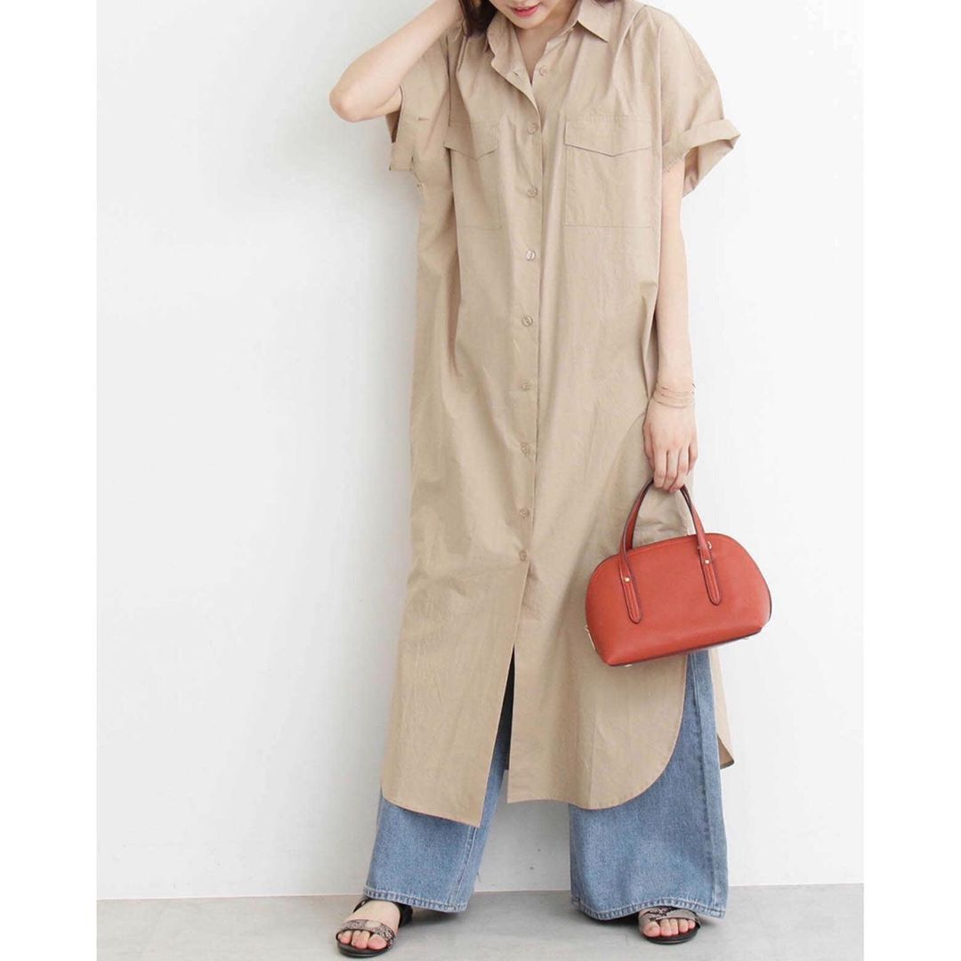サファリマキシシャツワンピース n natural beauty basic coat fashion duster coat