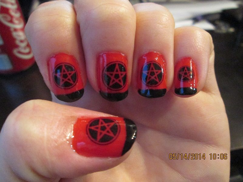 my new nail decals I received from NorthOfSalem on etsy. I love them ...