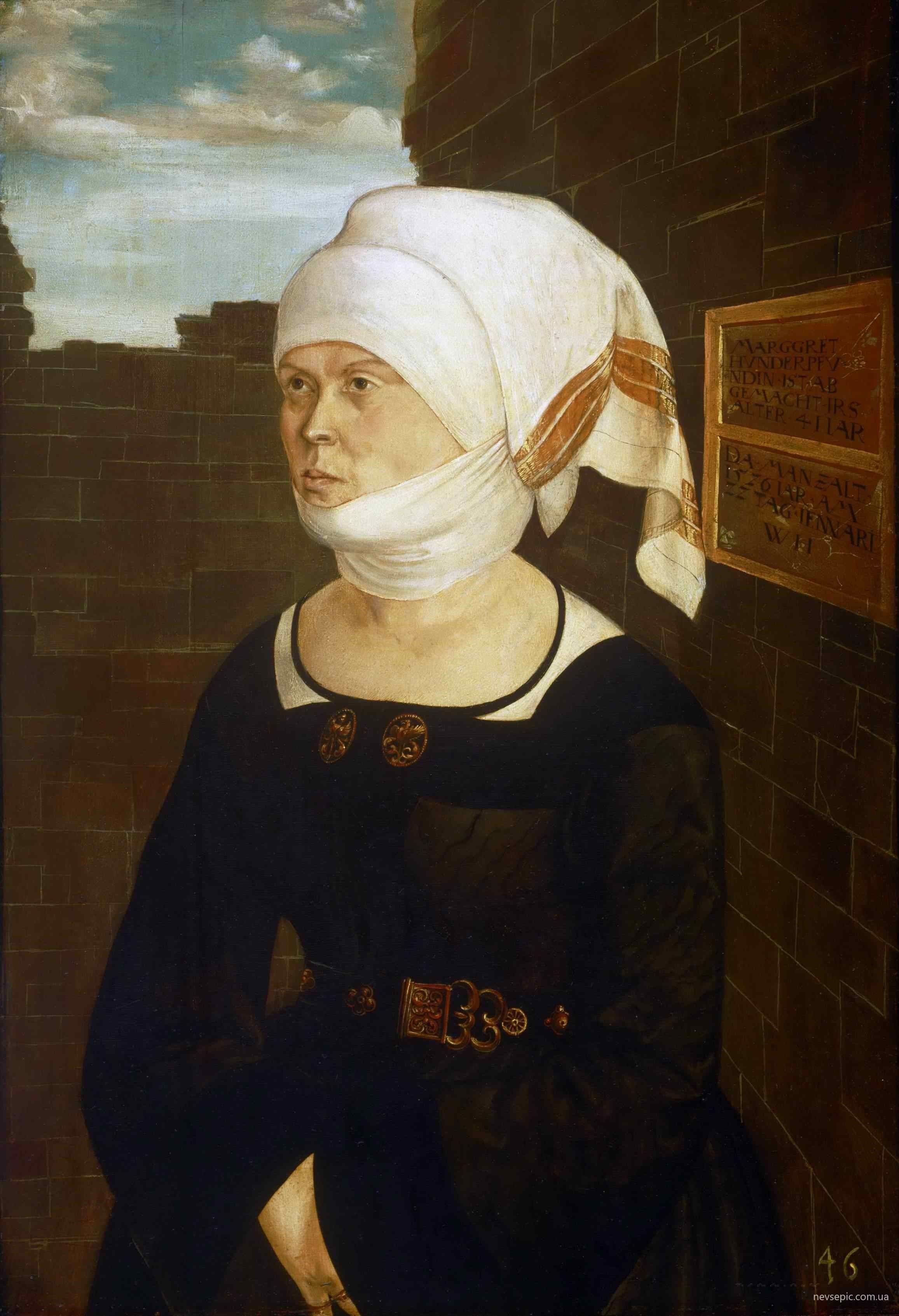 Wolf Huber   Pportrait Of Margaret Hundertpfundt - German museums in usa