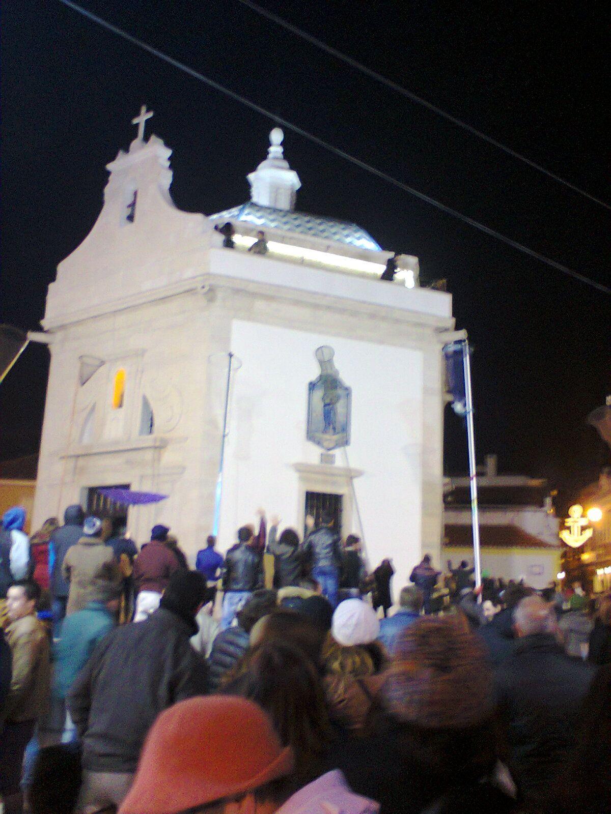 Capela de São Gonçalinho durante as festa em honra do Santo Padroeiro do Bairro da Beira Mar, em Aveiro