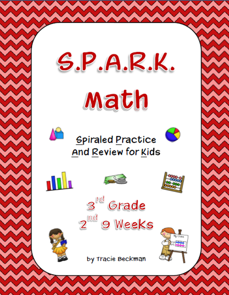 Spiraled STAAR/Common Core Math Review for 3rd Grade - 2nd 9 Weeks ...