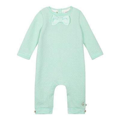 8fce4b7f5f0b Baker by Ted Baker Baby girls  green quilted bow sleepsuit ...