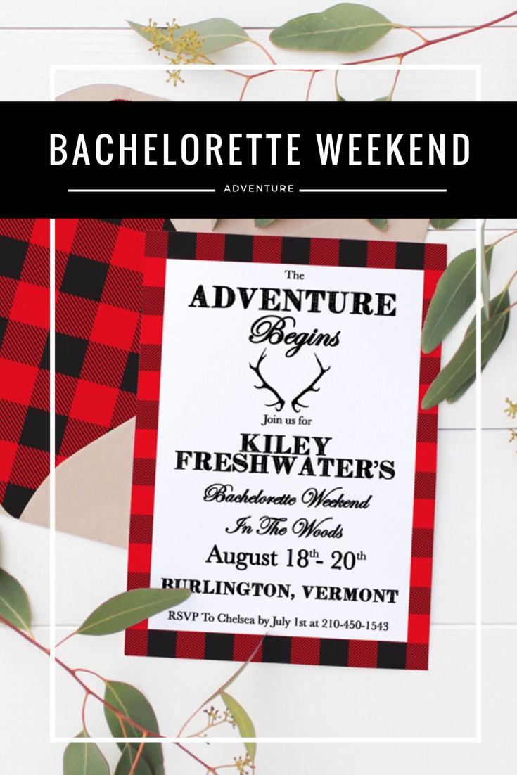Cabin adventure bachelorette weekend || Flannel Bachelorette Party || Cabin Bachelorette