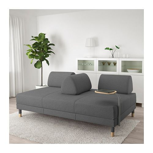 Astounding Sleeper Sofa With Side Table Flottebo Lysed Dark Gray Ibusinesslaw Wood Chair Design Ideas Ibusinesslaworg