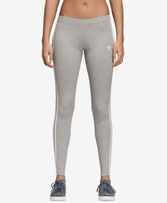 Carretilla emulsión telar  adidas Originals adicolor Three-Stripe Leggings - Gray XS | Striped leggings,  Leggings are not pants, Adidas leggings