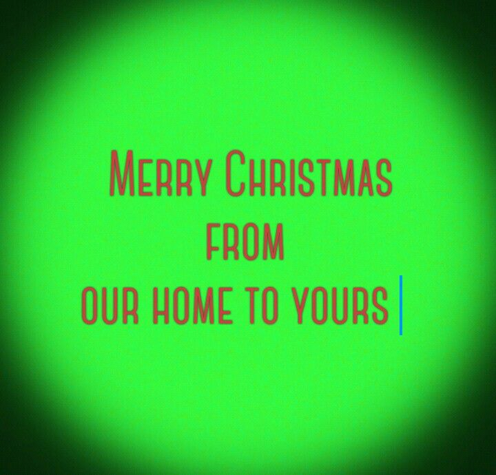 Have a awesome Christmas.