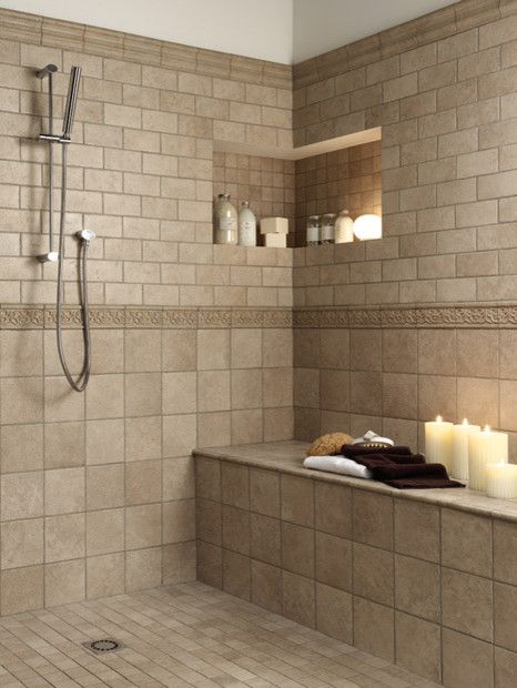 Florida tiles millenia traditional bathroom tile san for Florida bathroom designs