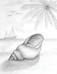 Caracol En La Costa A Lapiz Xd Dibujos Pinterest Lapiz - Dibujos-a-lapiz-para-principiantes