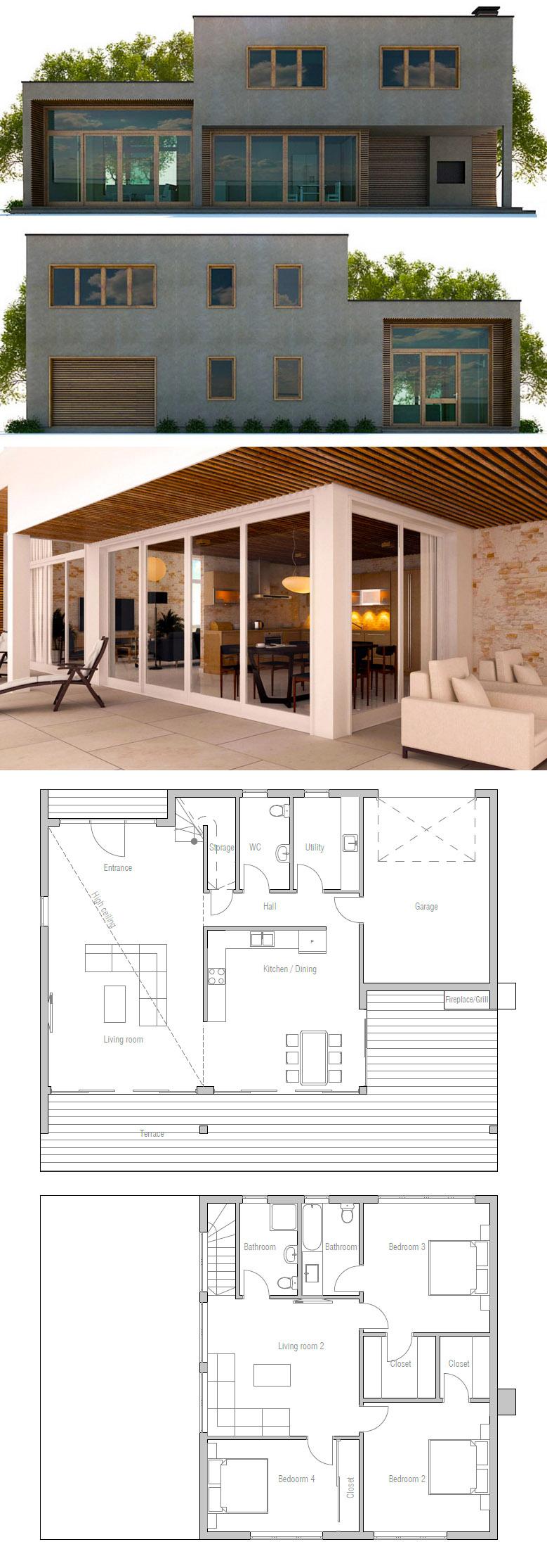 House Plan Ch330 House Plans Modern House Plans Minimalist House Design