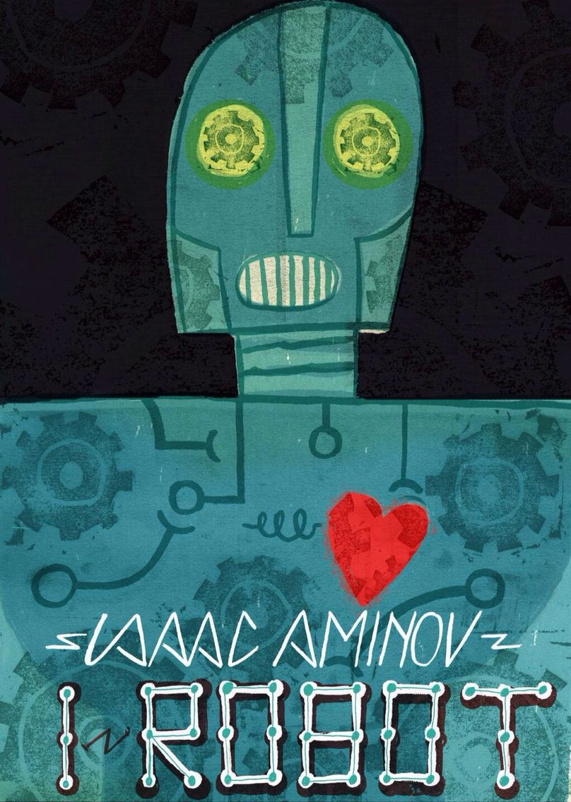 This months book was I-robot , thought I'd make a book cover