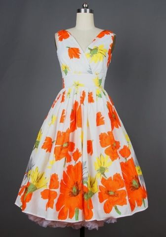 1950s vintage inspired Sweet Mid-calf Dress