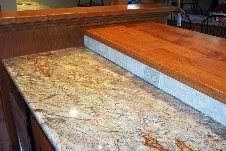 A Great Mix Between Granite And Mesquite Countertops Kitchen Bar Granite Countertops