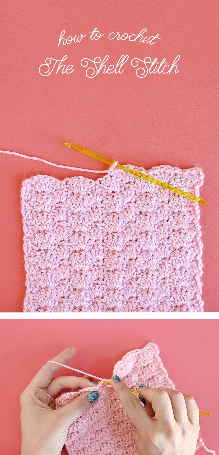 How to Crochet the Shell Stitch for Beginners | Puntos, Ganchillo y ...