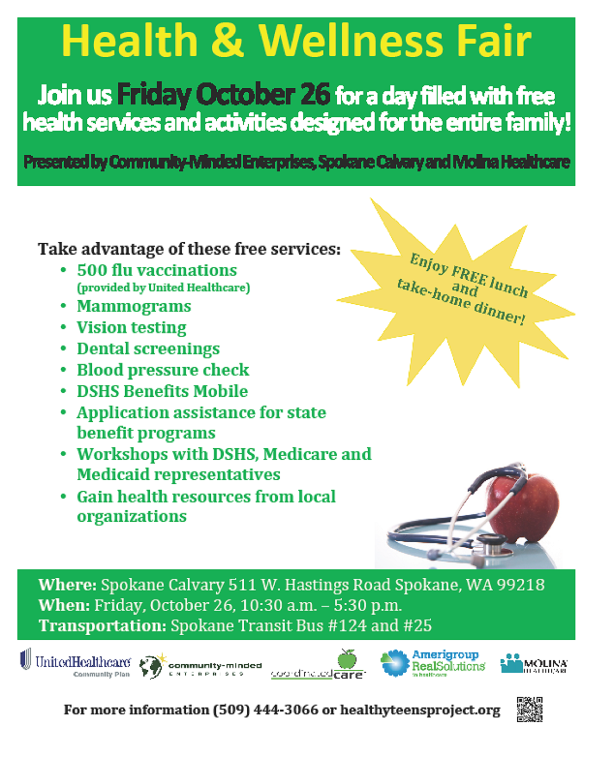 Health and Wellness Fair Flyer Health Fairs Pinterest