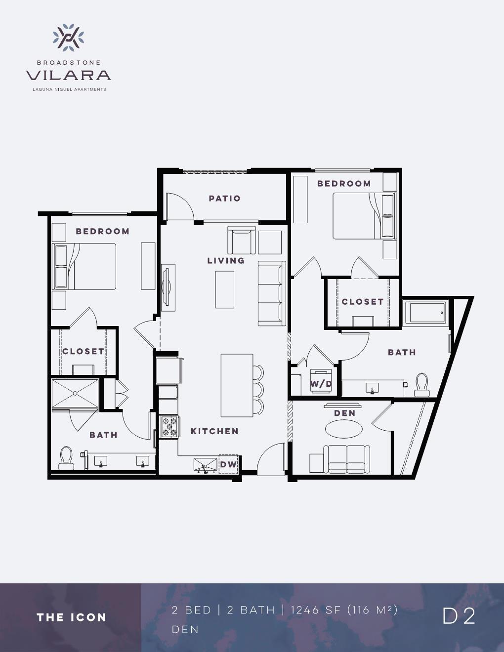 Two Bedroom Den Apartment The Icon Broadstone Vilara Floor Plans Apartment Floor Plans How To Plan
