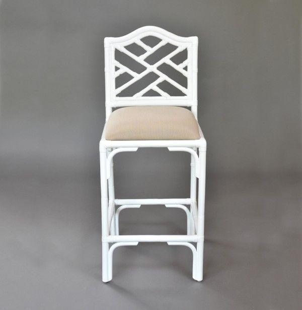 Pleasing Chippendale Barstool Rattan And Wicker Furniture Inzonedesignstudio Interior Chair Design Inzonedesignstudiocom