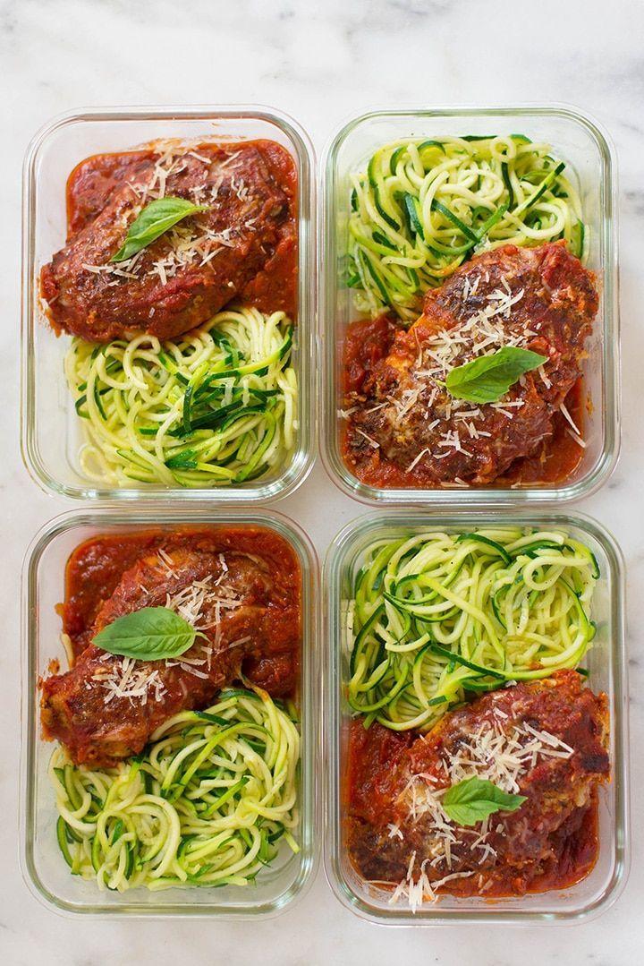 Zubereitung von Mahlzeiten - Gesunder Hühnerparmesan - New Ideas #weeklymealprep