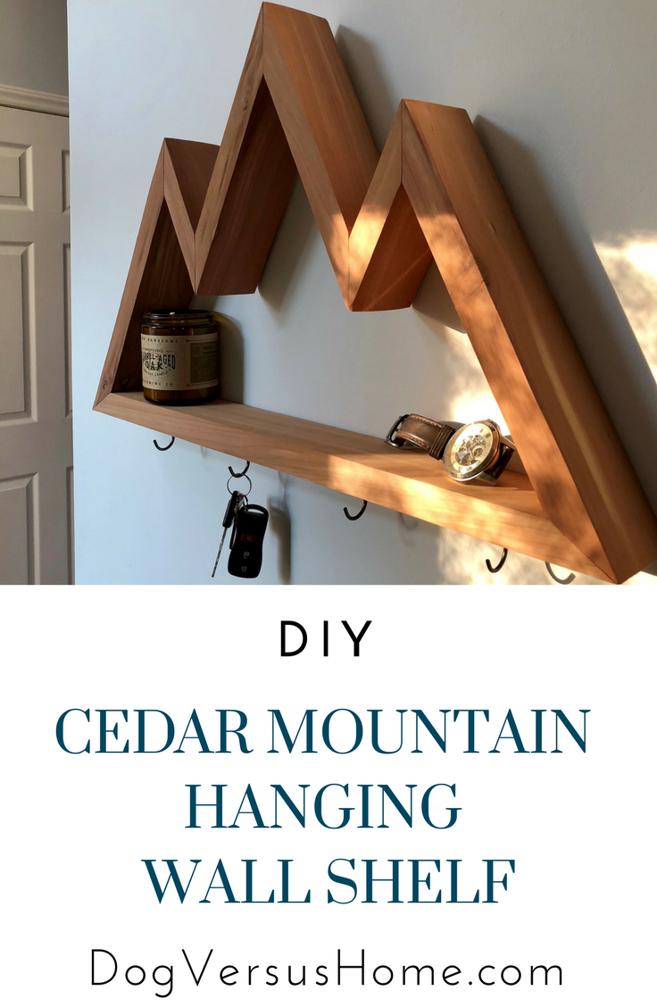 Diy Cedar Mountain Wall Shelf Cedar Wood Projects Cedar Woodworking Projects Paneling Makeover