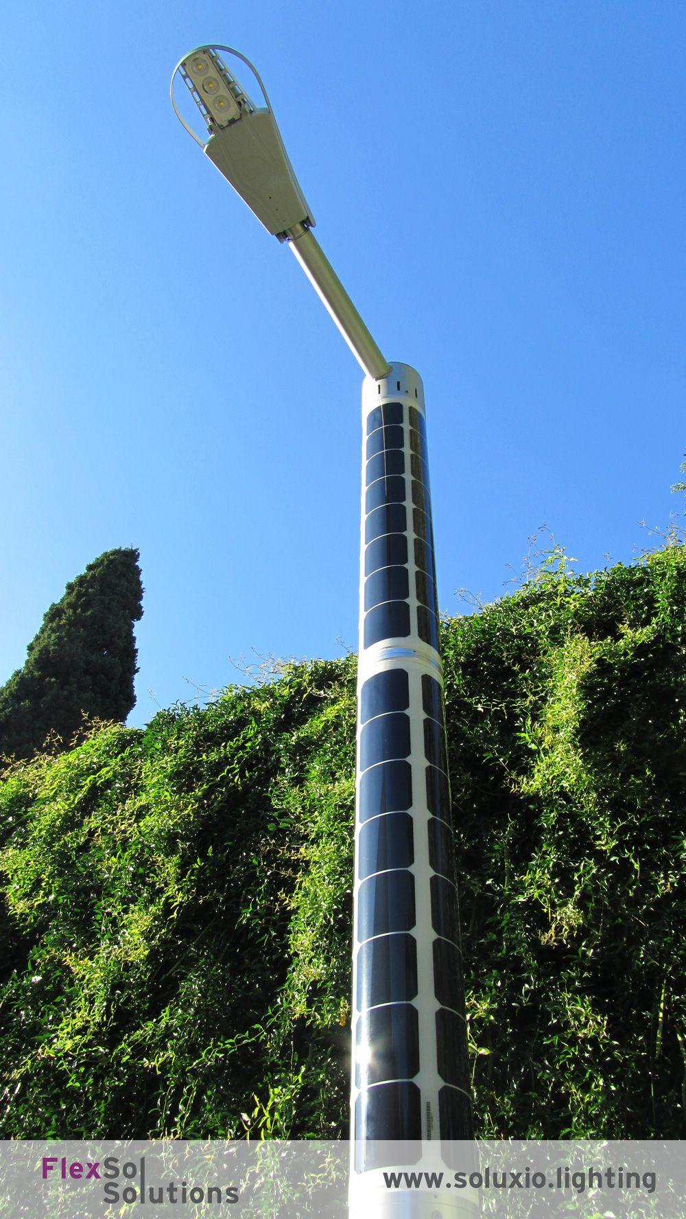 Solar Pole Soluxio Solar Street Light In Italian Park