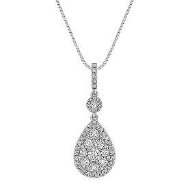 Diamond Teardrop Cluster Pendant (18 in.)