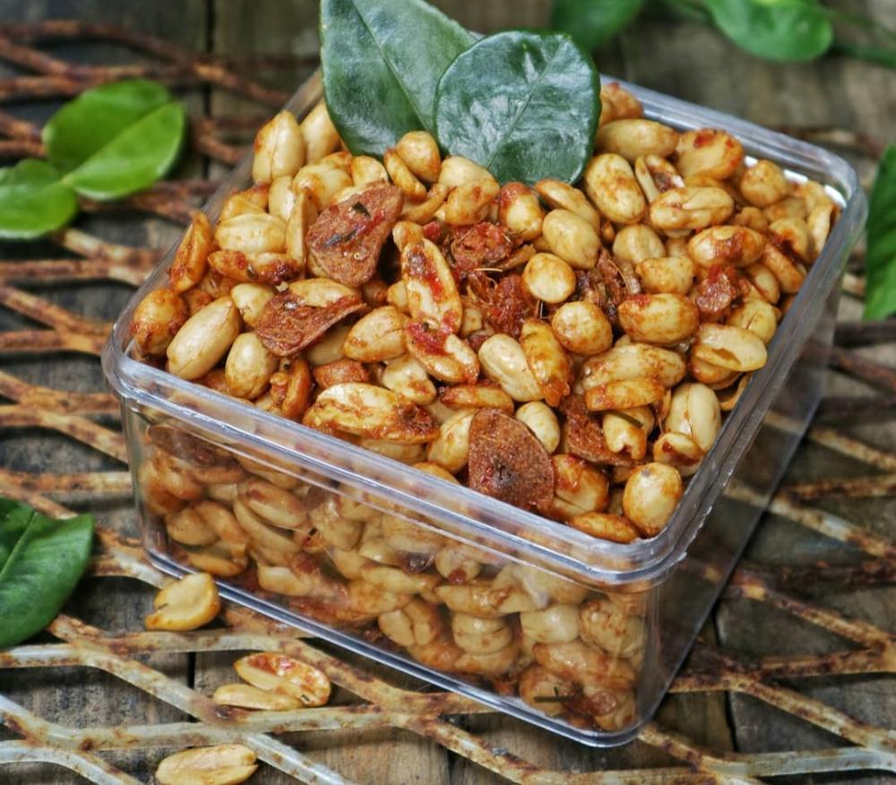 Resep Kacang Thailand Renyah Pedas Manis Gurih Wangi Daun Jeruk Resep Di 2020 Makanan Kacang Resep