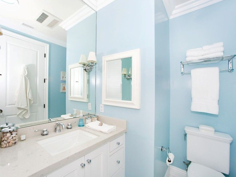 decorative blue and white bathroom on bathroom with light blue decorating ideas 11
