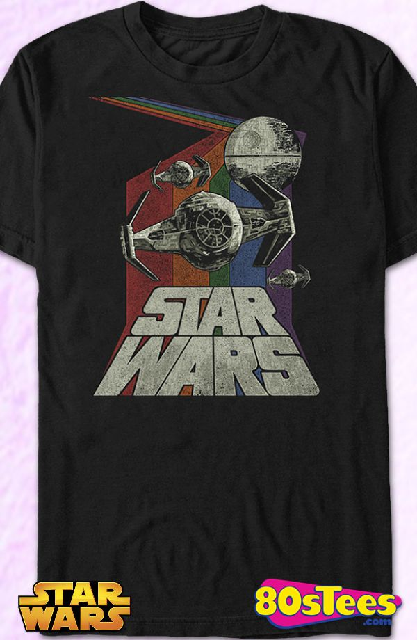 Retro TIE Fighter Star Wars T-Shirt: Star Wars Geeks:   Enjoy the comfort of home or travel the great outdoors in this men's style shirt that has been designed and illustrated with great art.