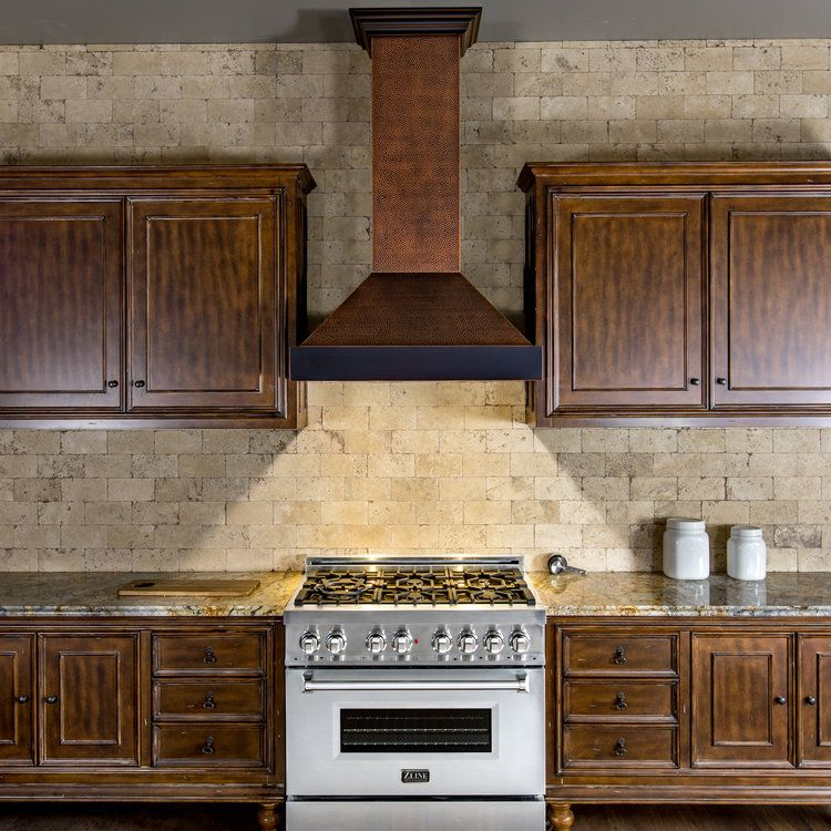 Zline Copper Wall Mounted Range Hood 655 Hbxxx Kitchen Jpg Rustic Kitchen Kitchen Remodel Range Hood